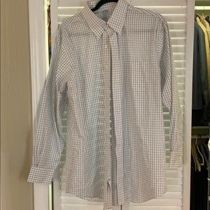Brooks Brothers White and Blue dress shirt